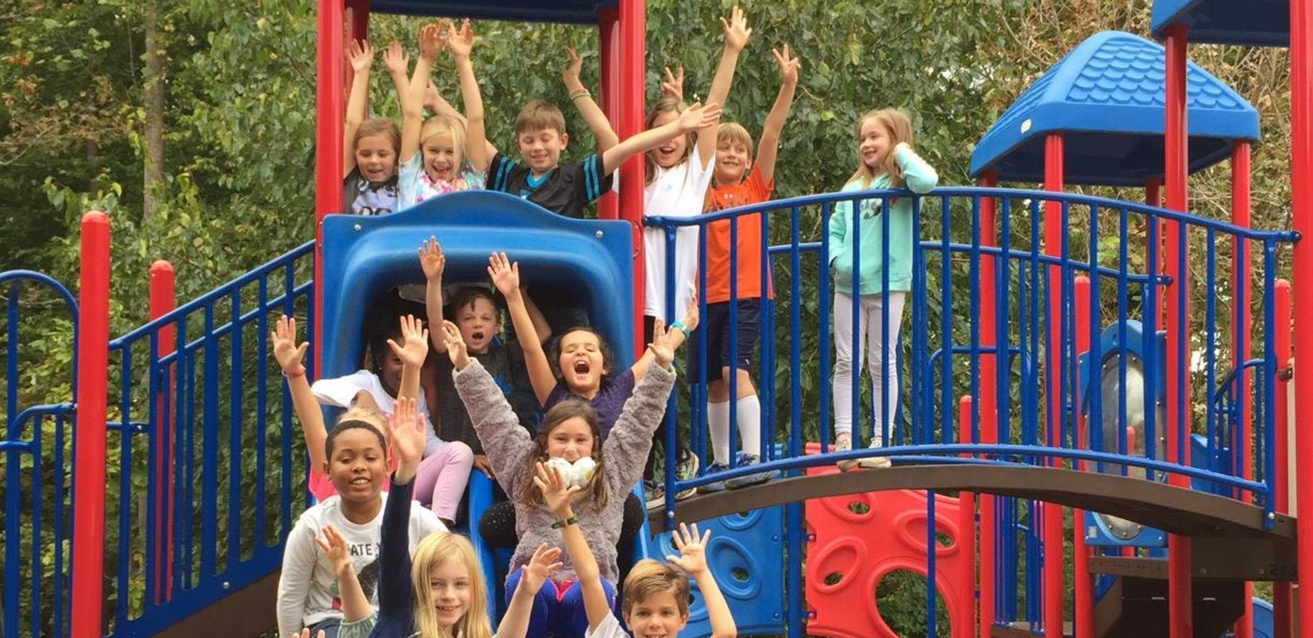 Students on the playground