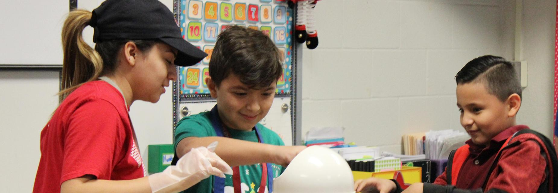 Pearson Elementary students learning to make lemonade for Career Day.