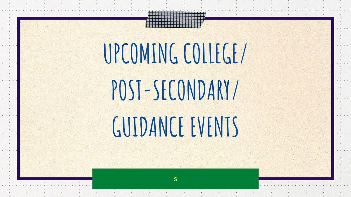 upcoming guidance events