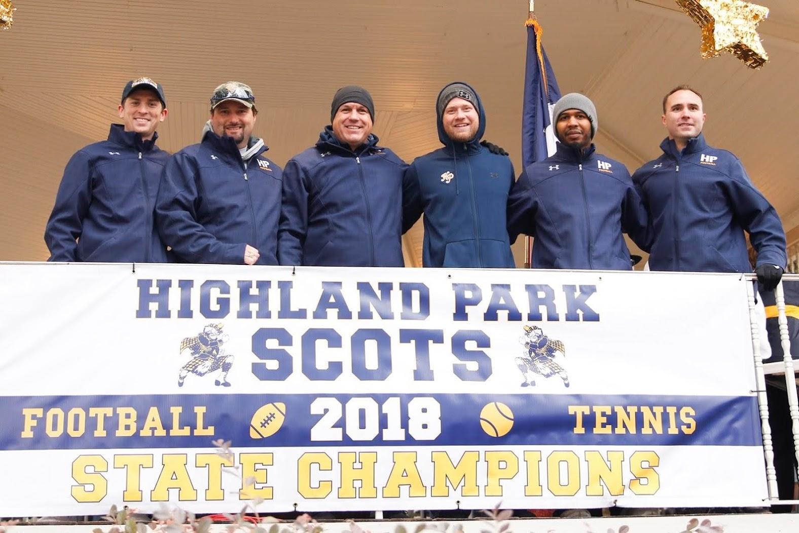 Scots champion parade coaches photo