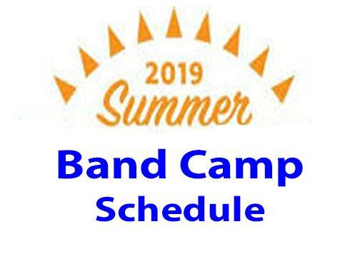 Summer Band Camp Schdule Featured Photo