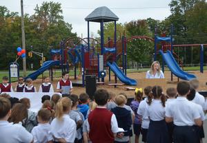 RB Playground dedication ceremony