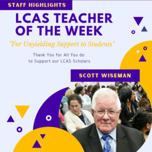 LCAS Teacher of the Week Mr. Scott Wiseman