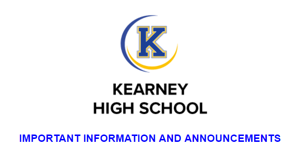 logo and announcement text