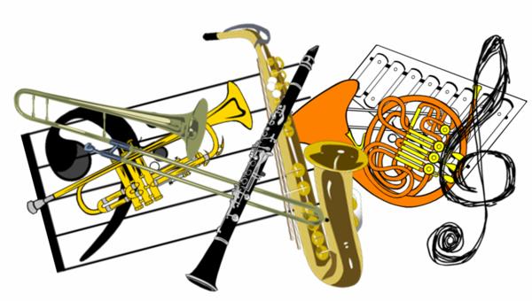 Band instruments clip art