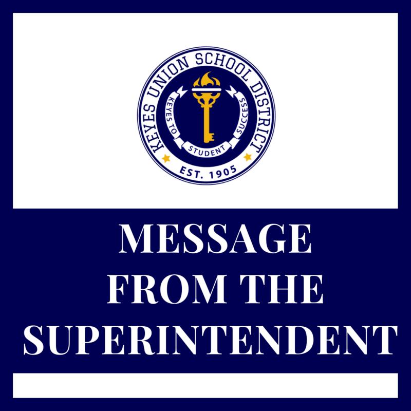 SUPERINTENDENT MESSAGE FLYER