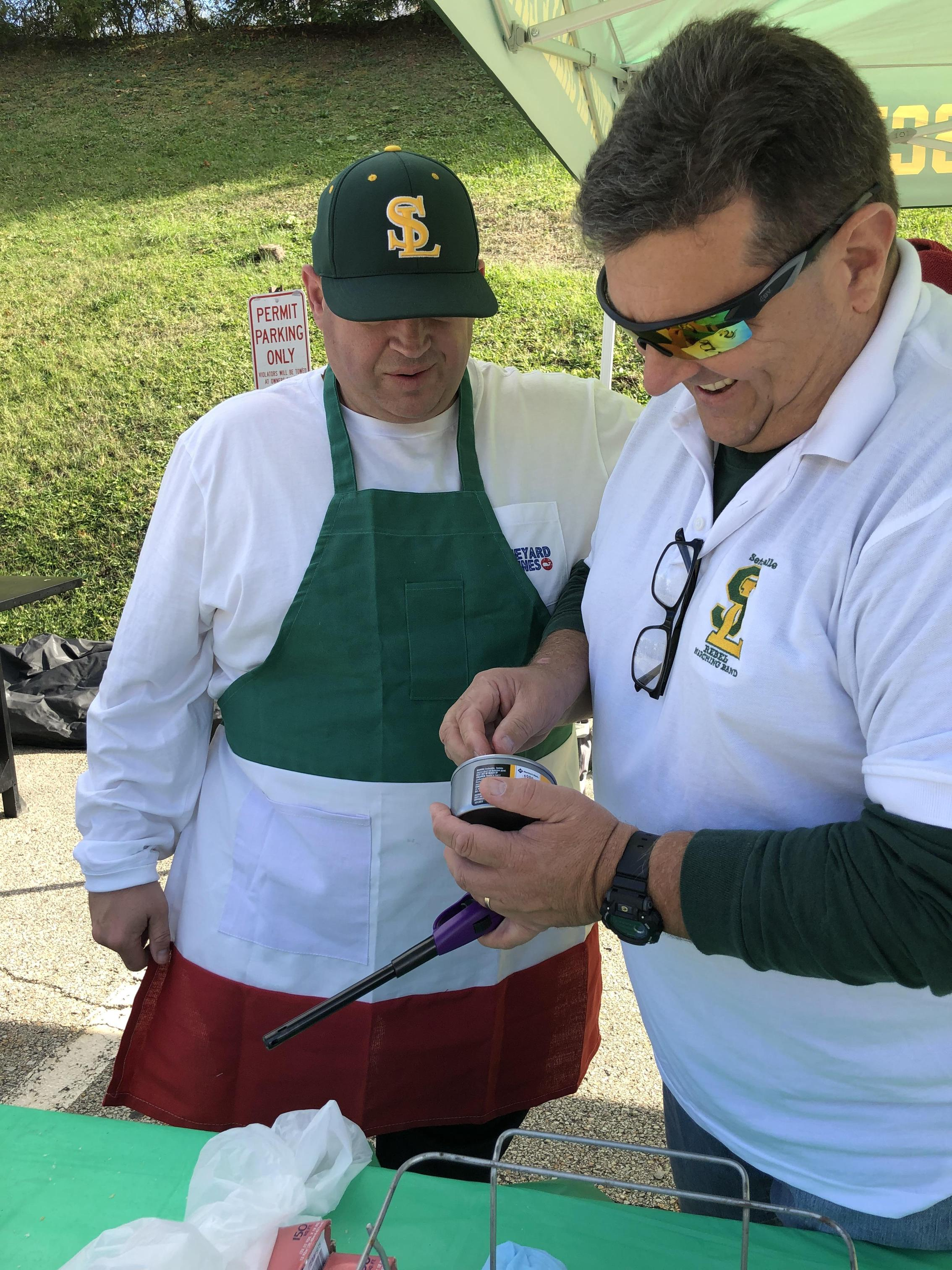 Parents grill at Rebelfest 2019