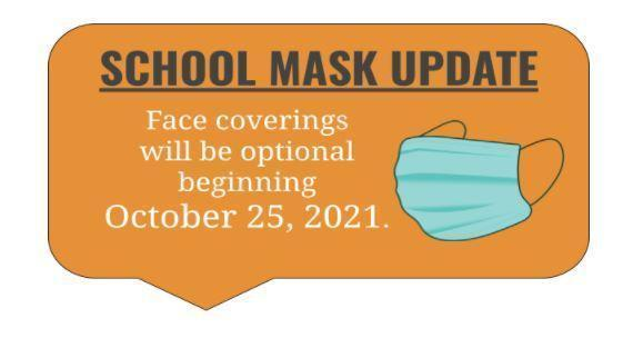 Optional Face Covering Beginning October 25, 2021 Featured Photo