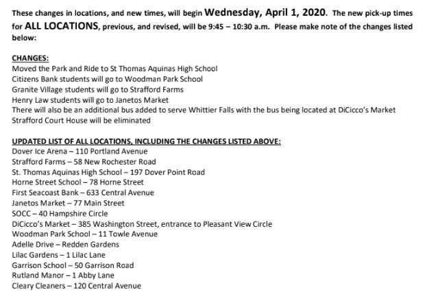 Dover Meal Distribution