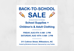 Habitat for Humanity Back to School Sale
