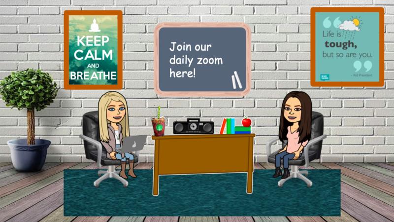 Mrs. Mendez and Creaden in virtual classroom