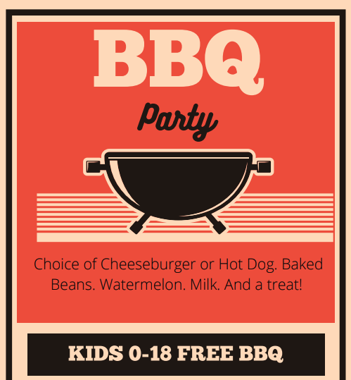 Free BBQ in the Parks (shows illustration of charcoal grill)
