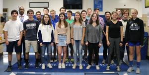 :  Twenty Westfield High School students received perfect scores on subject tests/areas of the summer SAT and/or ACT.