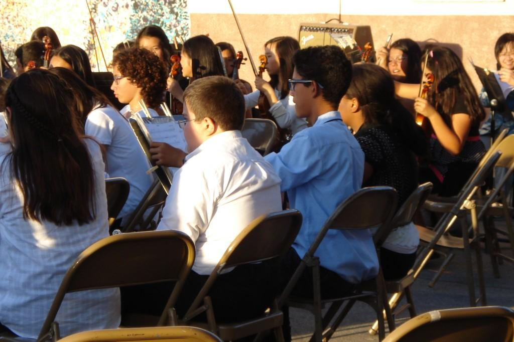 Marguerita students performating at the Night Music Concert