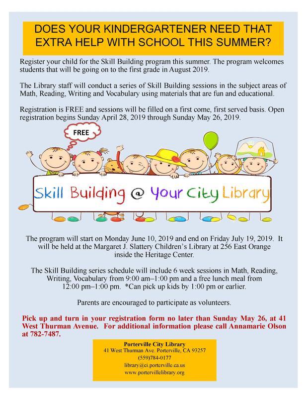 Skill Building Flyer