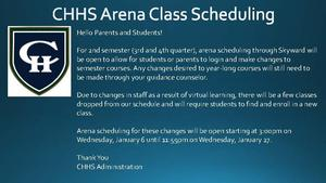 CHHS Arena Class Scheduling