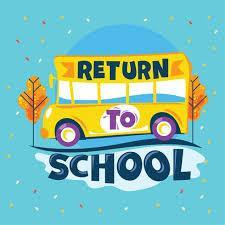return to school with school bus image