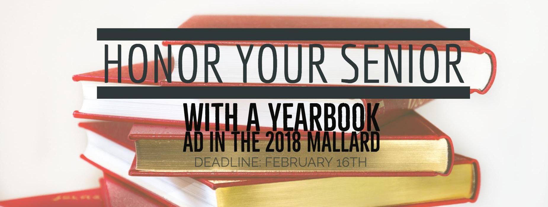 Senior ads yearbook