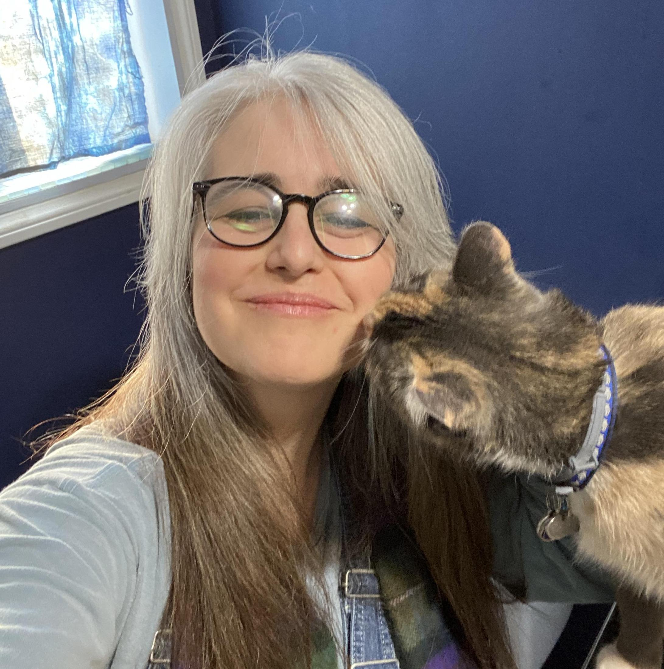 Librarian and cat