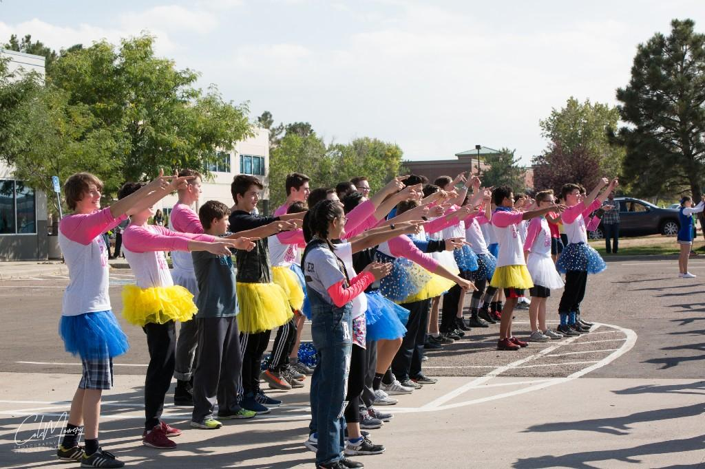 Pep Rally fun, captured by student Cole Mowery.