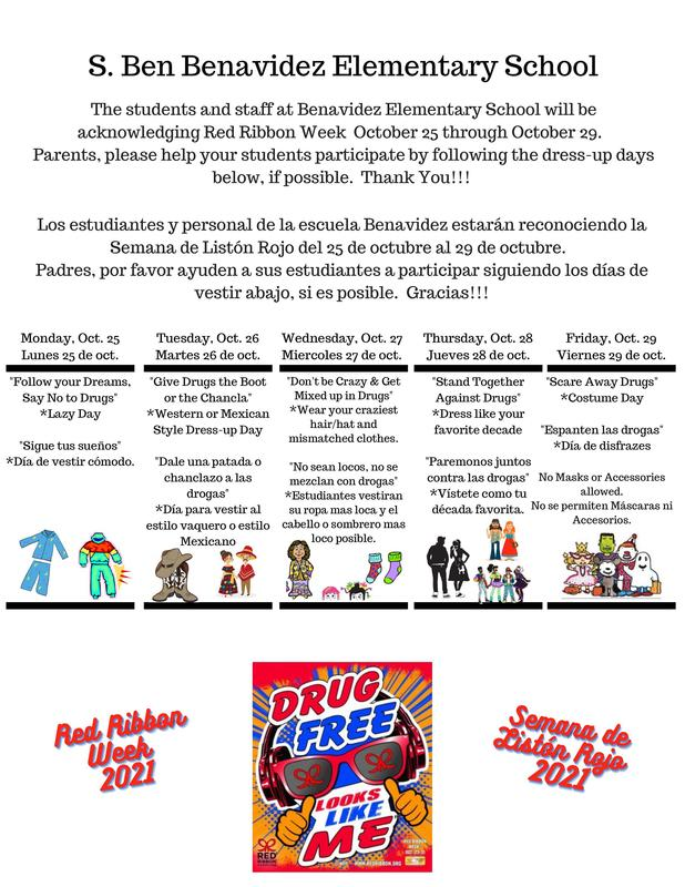 Red Ribbon Week Dress Up Days Featured Photo
