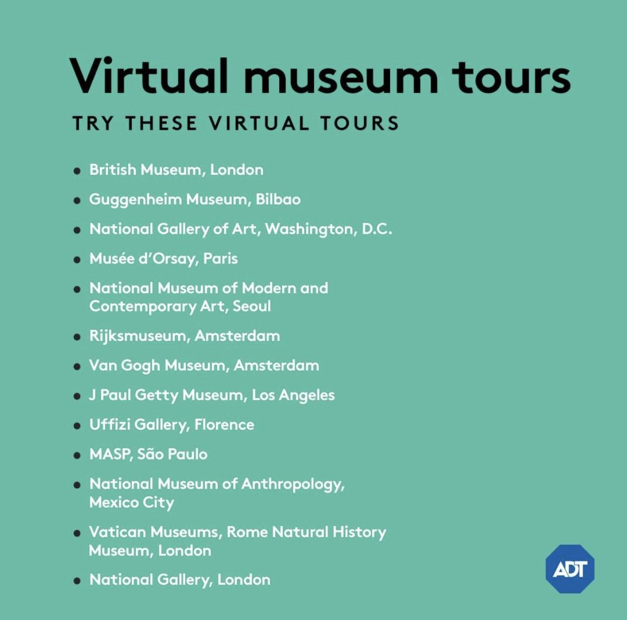 VISIT AN ART MUSEUM ONLINE