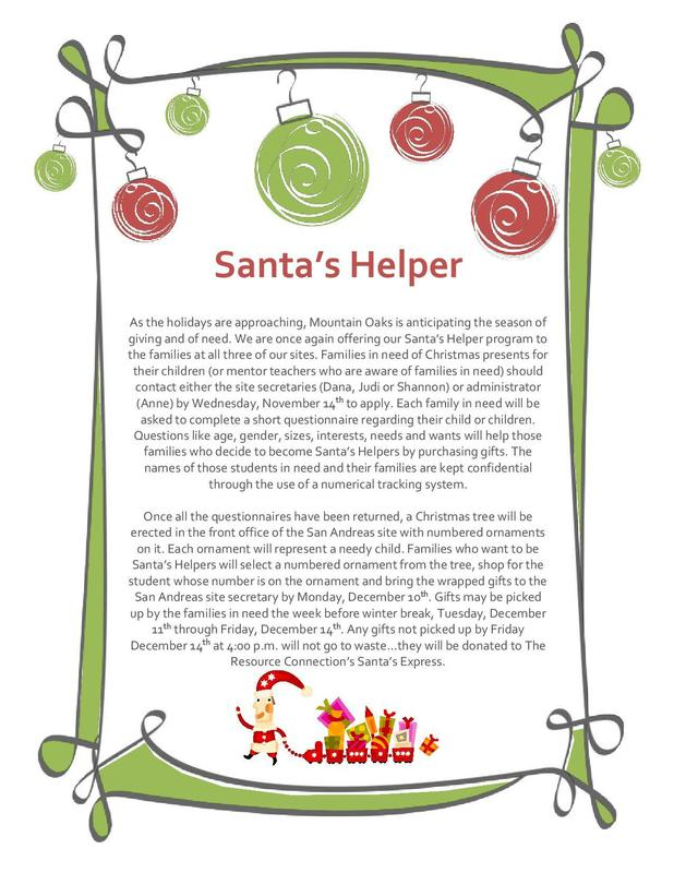 Santa's Helper Flyer