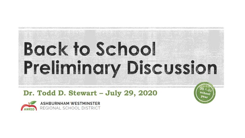 Preliminary School Opening Plan Presentation 7/29/2020 Featured Photo