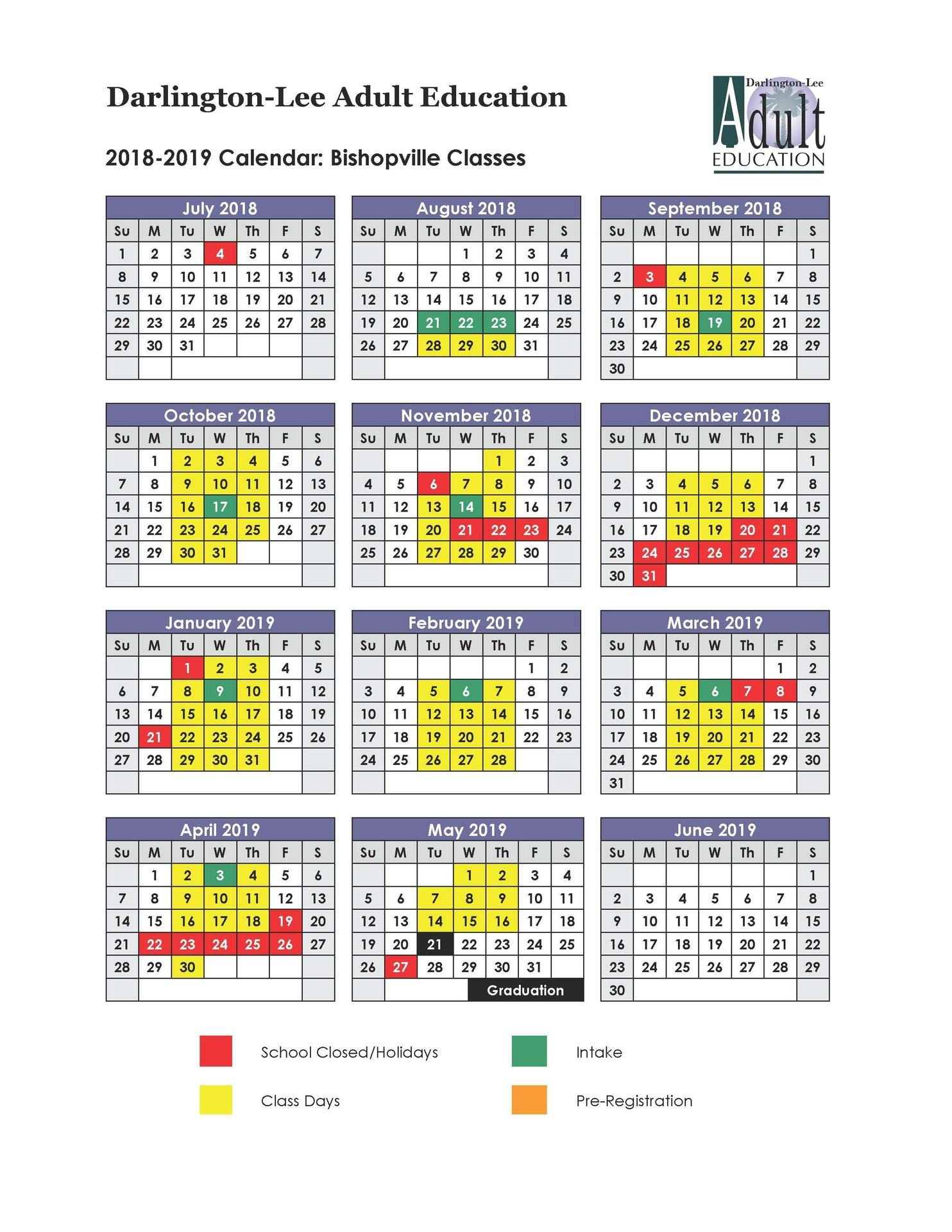 Lee County School Calendar 2019 16 Lee County Adult Education Schedule 2018 2019 – Adult Education