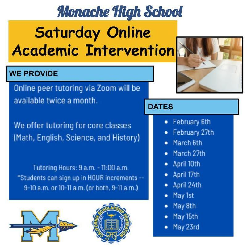 Academic Intervention Flyer