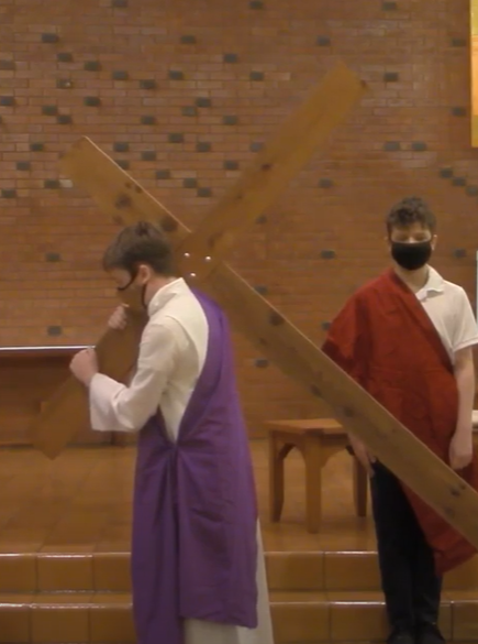 Good Friday 2021: 7th Graders Perform Powerful Stations of the Cross Featured Photo