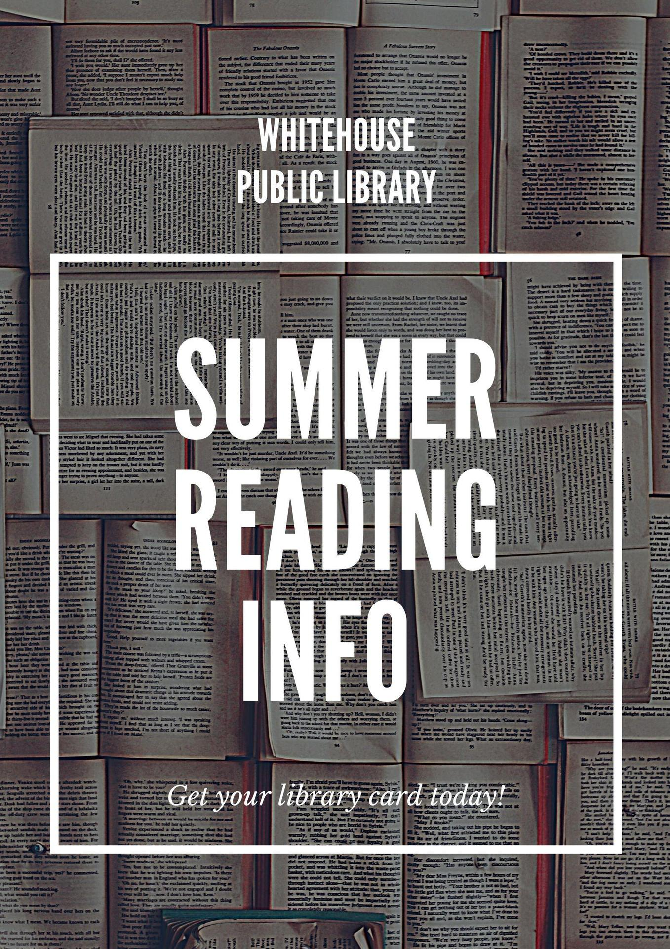 Summer Reading at Whitehouse Public Library