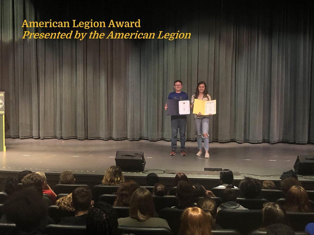 American Legion Award Winners