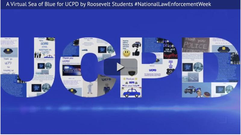 A Virtual Sea of Blue for UCPD by Roosevelt Students