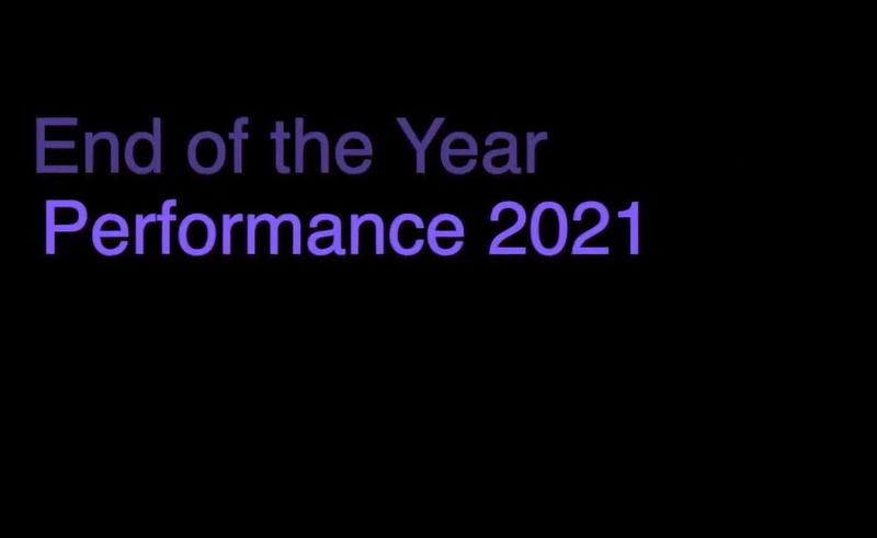 End Of Year Performance Video text