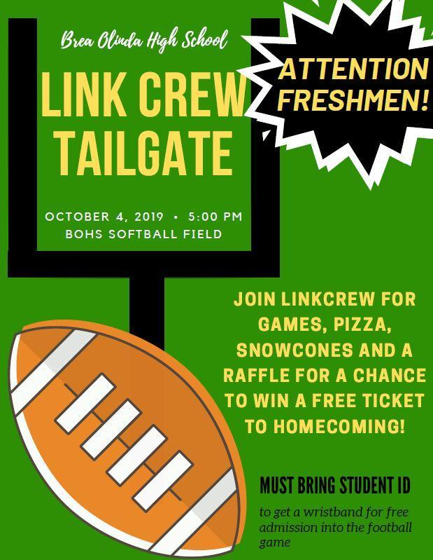 Link Crew Tailgate