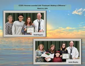 Honorees for CCOE's Employees Making a Difference