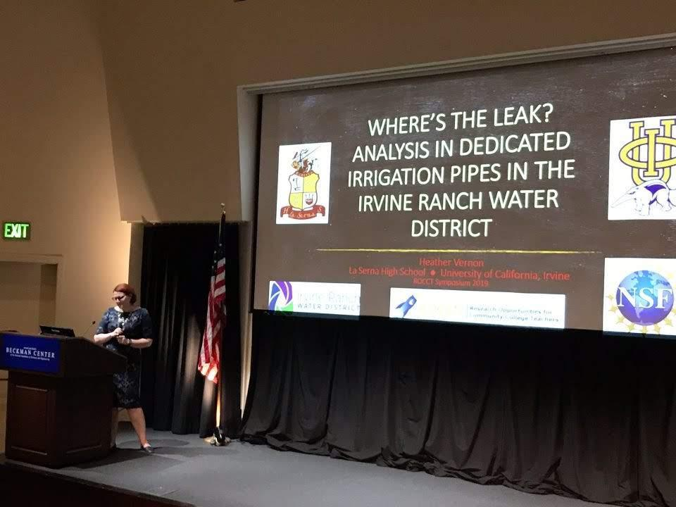 Mrs. Vernon presenting at UCI