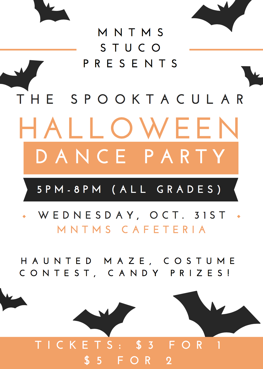 MNTMS STUCO Presents....The Spooktacular HALLOWEEN Dance Party Thumbnail Image