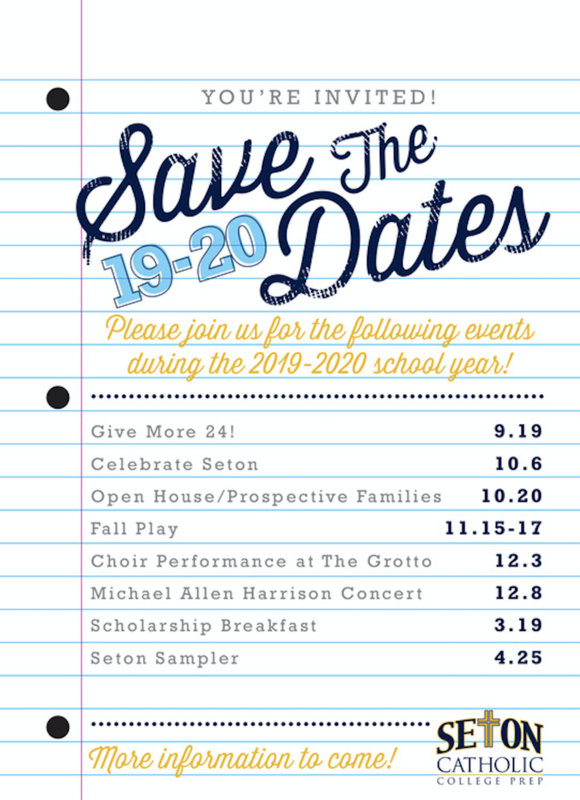 Save the Dates for 2019-2020 Featured Photo