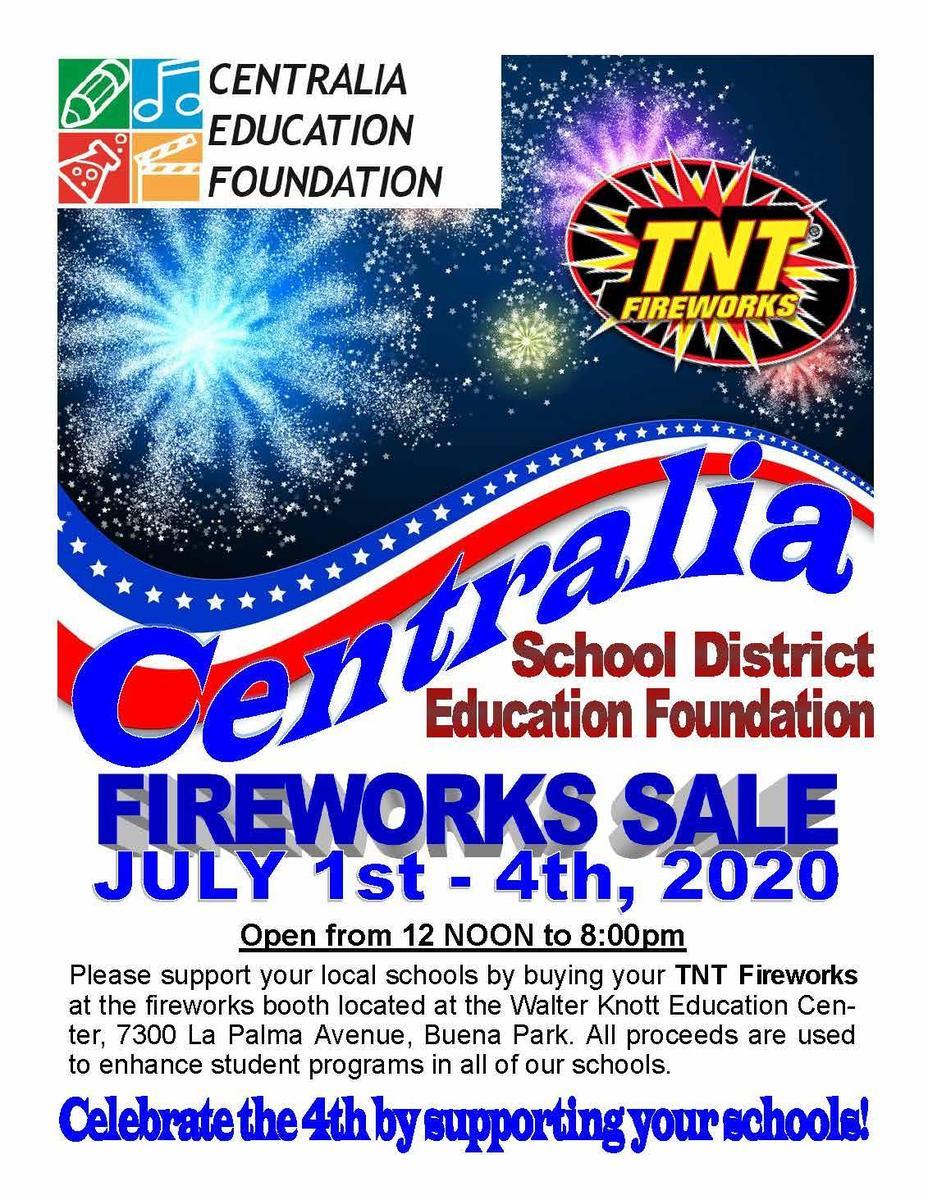 Fireworks sale start July 1 at Walter Knott Campus