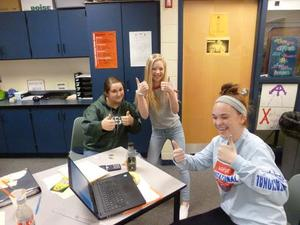 This group of 8th-grade math students ws successful in their calucations.