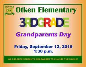 Otken Elementary 3rd Grade Grandparents Day News! #WeWantMore!
