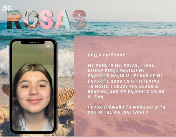 Meet Ms. Rosas!