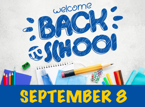 Welcome Back Sept. 8