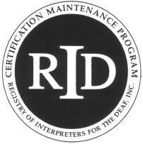 Registry of Interpreters for the Deaf CEU logo