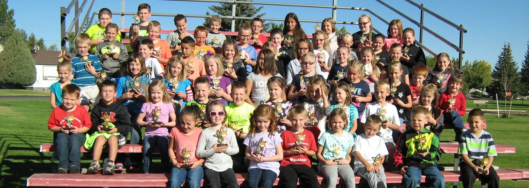 students ar Clark Elementary who read over 30 books during the summer