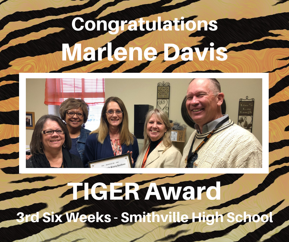 Marlene Davis Tiger Award Recipient