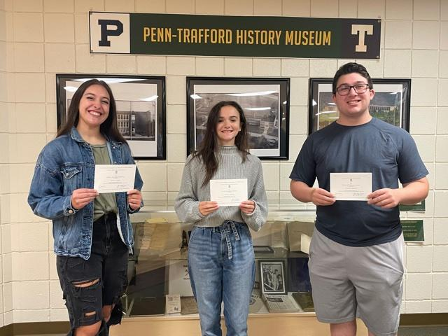 Merit Commended Students: Coiner, Simpson, Freilino