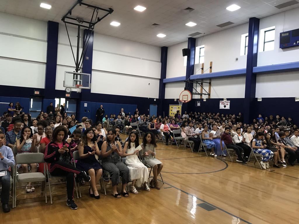 view of the audience in the awards ceremony